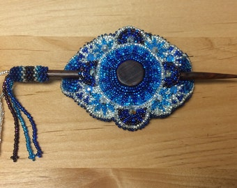 Beaded Barrette with Stick made in Guatemala