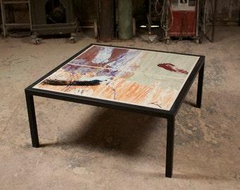 "40"" Tile Coffee Table"