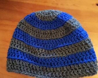 Striped hat, striped beanie, winter hat, crochet hat