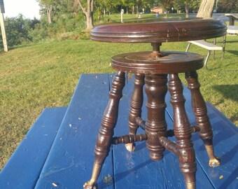 Antique Piano Stool, Pottery Stool, Artist Stool