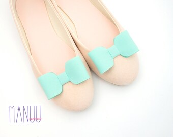 Mint bows  - shoe clips Manuu, Wedding shoe clips, Bridal shoe clips