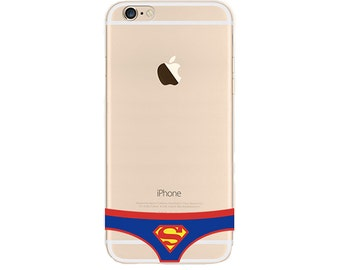 Superman Underwear Slim iPhone 6s case, Soft iPhone 6 case, iPhone case clear,