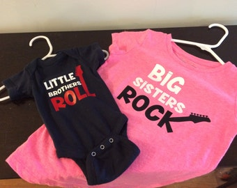 Big Sisters Rock and little brothers roll package