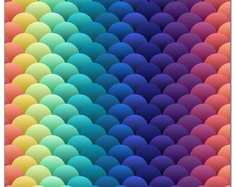 Daenerys Rainbow Scales Print Pul