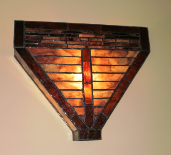 Handmade Glass Wall Sconces : Handmade Stained Glass Wall Sconce Light