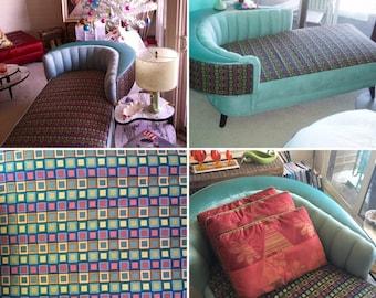 FABULOUS Fifties Chaise Lounge Aqua BEAUTIFUL!!!!
