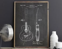 Rancher Guitar Poster, Guitar Art, Rock and Roll, Music Room Decor, Guitar Poster, Musician Gift, Rock N Roll PTP0238 INSTANT DOWNLOAD