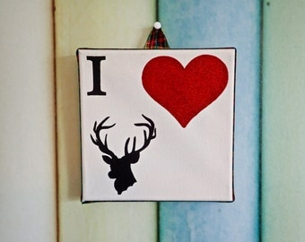 I Love Stags canvas