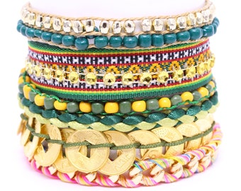 Brazilian Bracelet - Multi Layer Bracelet - Wrap Bracelet - Woman Bracelet - Multi Color Bracelet - Summer bracelet - Colorful Bracelet