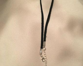 The Zoe Choker// Thin Black Suede Choker// Free Shipping & Gift!!!