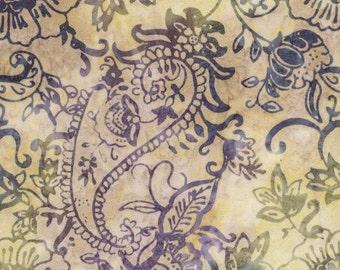 B3165 GEMSTONE TONGA BATIK Opal - Carnivale Paisley Batik, Timeless Treasures, Opal Batik, Tonga Batik