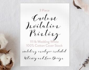 Custom Invitation Printing - 3 Piece Suite
