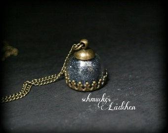 "Glass dome necklace ""Glitter"""
