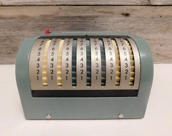 Vintage Italian Addipresto Adding Machine