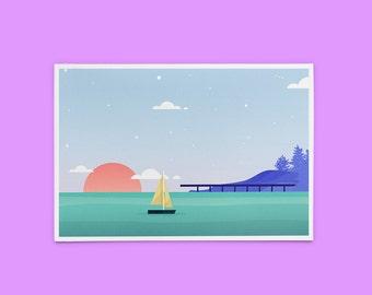 Sunset Lake Print