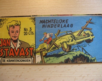 An old Lilliput comic book: Jan Saksena, the newspaper boy ... Nocturnal Ambush ... 1954