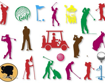 Golf Silhouette, Golf svg, Sport SVG, DXF, EPS, jpg, png, cutting files, for use with Silhouette Studio and Cricut