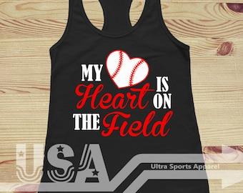 My Heart Is On The Field Customizable Tank Top
