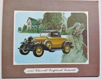 Artwork 1932 Chevrolet Confederate Cabriolet