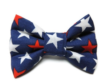 Small Patriotic Slip-On Collar Bowtie