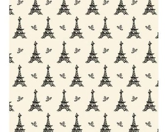 "Small wonders by Mary Fons:  France Eiffel tower fabric fabric  100% cotton Fabric by the yard 36""x43""  (SC156)"