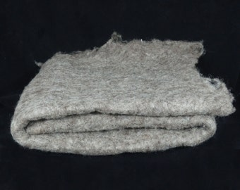 Gray felted batt