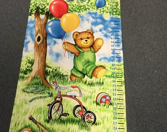 Corduroy Bear Grow Chart by Timeless Treasures