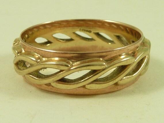 Clogau Welsh Gold Wedding Ring Celtic Design Boxed