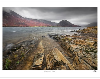 Crummock Water Lake District Landscape Photo | Wall Art | Seascape Mountain Wall Decoration | Realistic Photographic Print