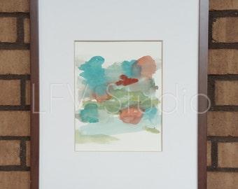 Original Abstract Watercolor & Acrylic Painting Multi-color Series #003 - LFV Studio