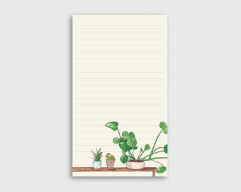 House Plant Illustrated Notepad