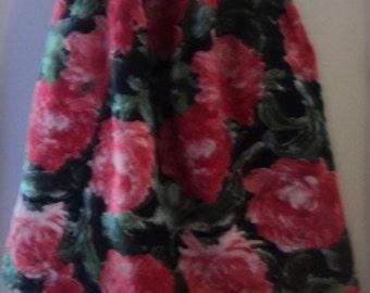 Vintage 1970's A-line high-waisted skirt