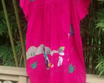 Plus Size Folk Art Patio Dress