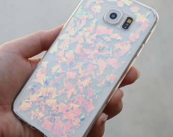 Holographic Hologram Flake Samsung Galaxy S5/S6/S7 edge Note 5/7 J7 Case