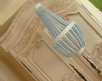 Stunning beaded baby blue chandelier
