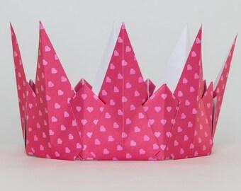 Pink Queen of Hearts Crown