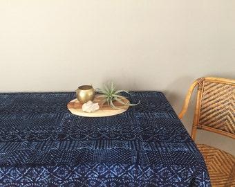 Authentic Handmade African Indigo Shibori Mudcloth Fabric