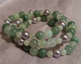 Lilac and Light Green Gemstons