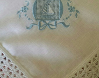 Sabanilla in cheesecloth with embroidery
