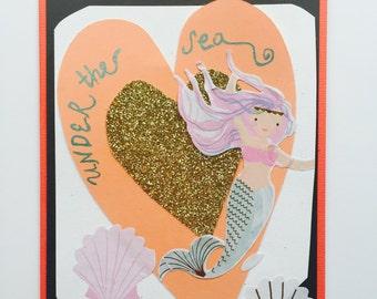 Handmade Mermaid card