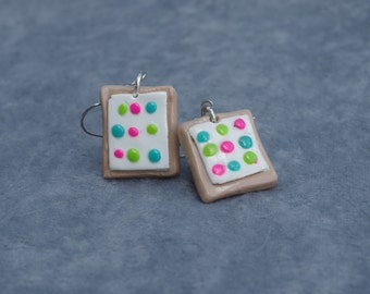 Confetti Cupcake Pop Tart Earrings