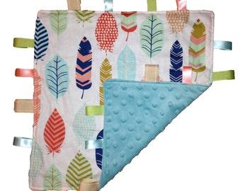 Sensory Blanket tag blanket lovey lovie sensory blanket