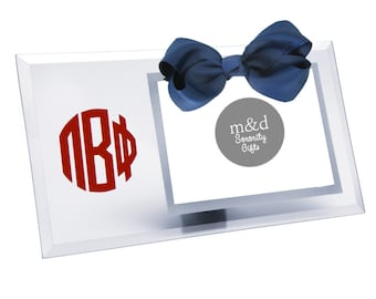 Pi Beta Phi Picture Frame | Glass picture frame with or without bow