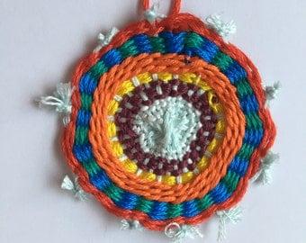 Circle Woven Pendant