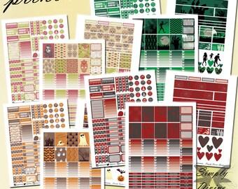 3+1 Halloween Bundle - Limited Edition/Printable/Erin Condren Planner Stickers/Weekly Planner Sticker Kit/Download/PDF