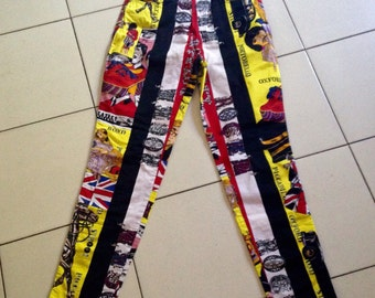 Rare collectible vintage trousers Versace jeans couture from 1980s