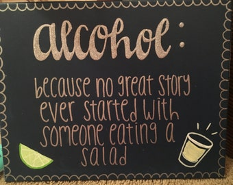 Custom canvas-alcohol