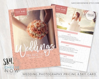 Photography Pricing Packages - Marketing Board - Photoshop template