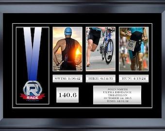 "22"" X 14.5"" Triathlon Race Medal Display Frame"
