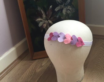 Elegant Love Heart Felt Crown